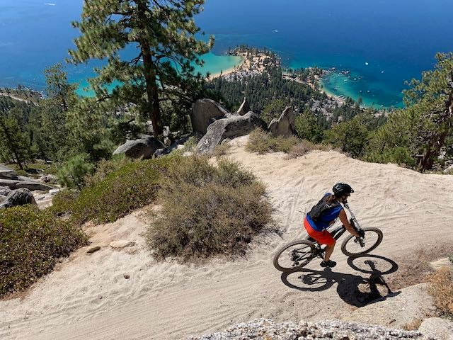 Mountain Biking the Flume Trail - view from above RD