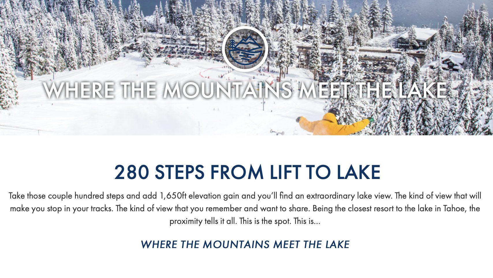 Homewood Mountain Resort Tahoe winter screenshot