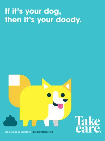 Take Care Tahoe Poster Dog Doody