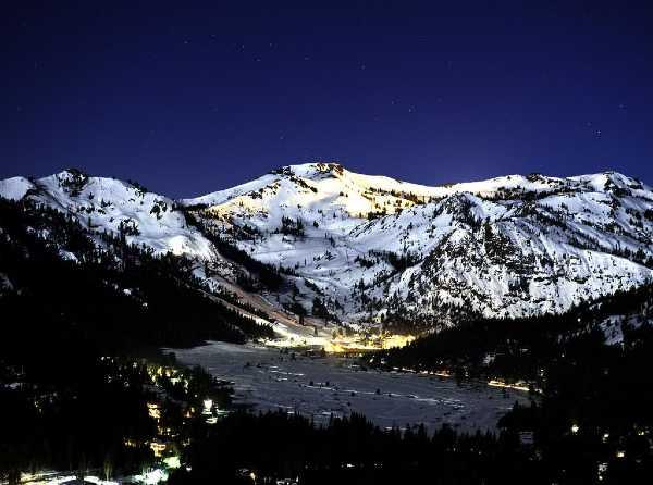 noche de invierno en squaw village