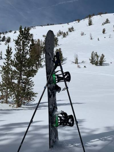 Tahoe Backcountry board and poles