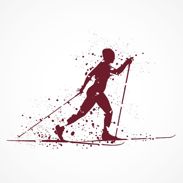 Cross Country Ski image Red dots