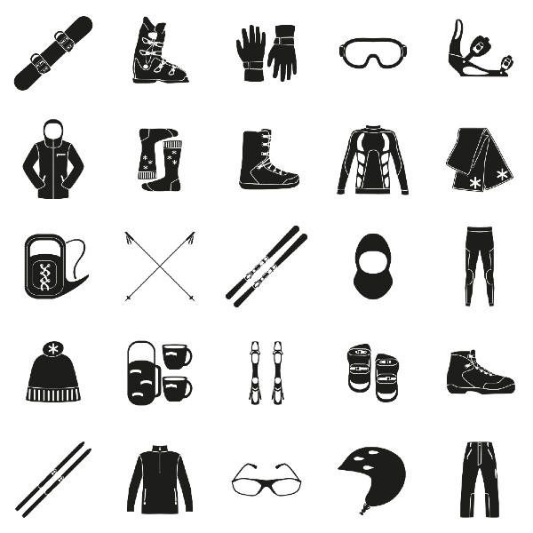 Ski equipment images