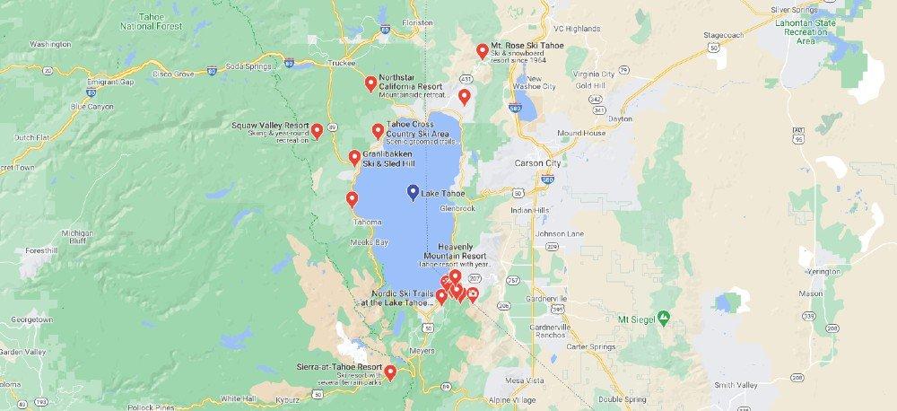 Centros de Esquí en Lake Tahoe – California y Nevada