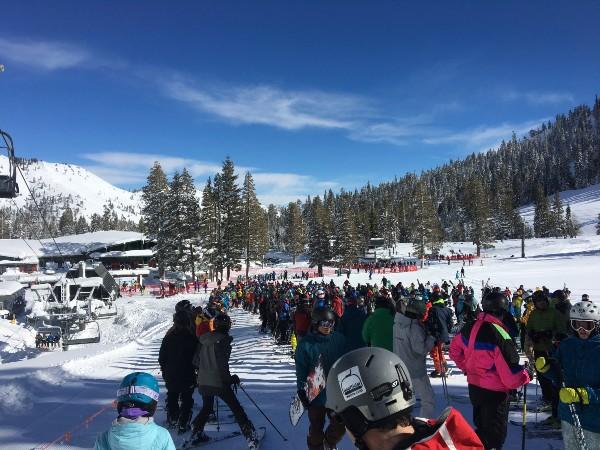 Ski Resort Crowded Lift Lines IMG_7216