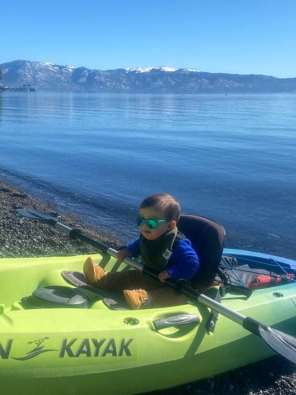 Baby on Kayak Tahoe