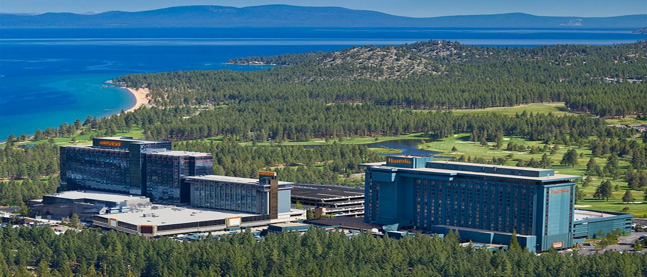 Harrahs-Harveys Casino South Lake Tahoe AerialView