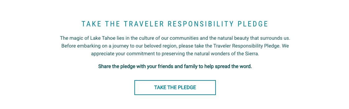 Image Lake Tahoe Traveler Responsibility Pledge