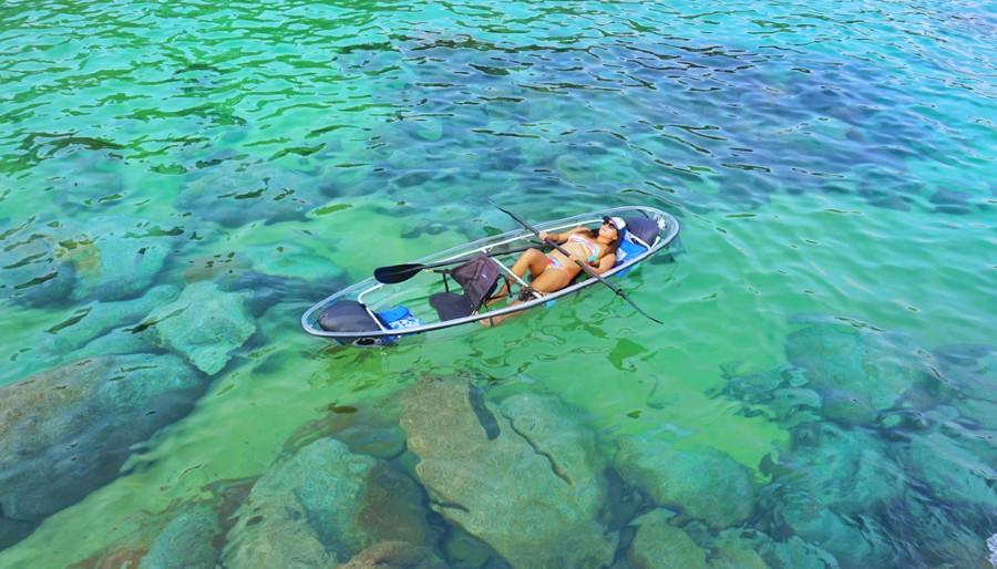Boating on Lake Tahoe glassy