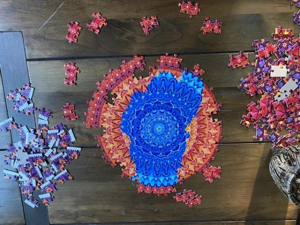 Lake Tahoe mandala puzzle