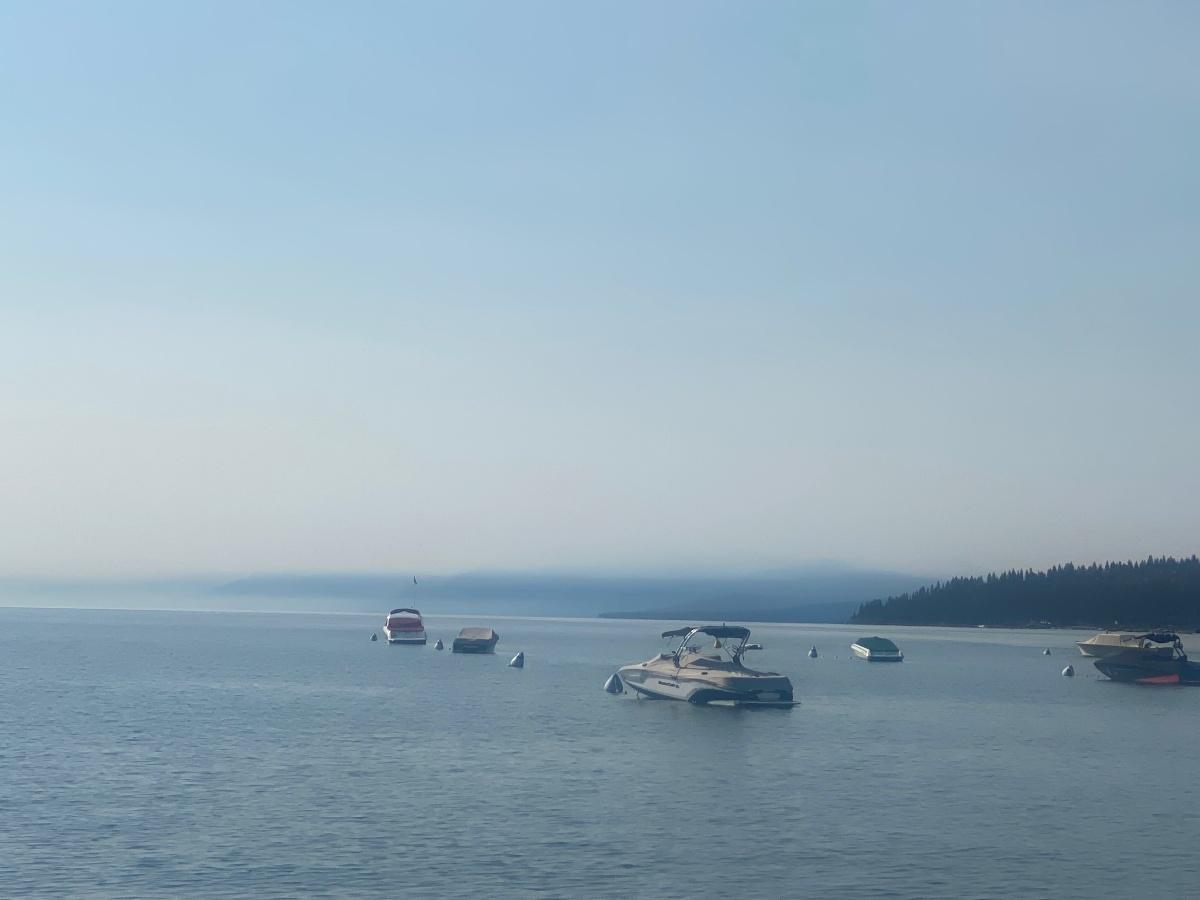 Lake Tahoe smoke on the water w boats